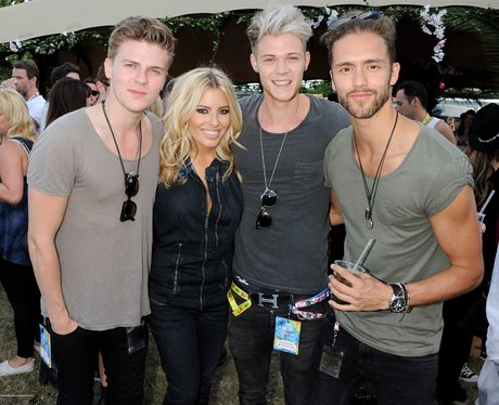 Mollie King and Lawson at V Festival 2013 backstage