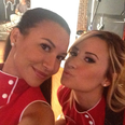 Demi Lovato on the set of Glee