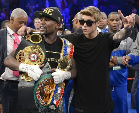 Justin Bieber and Floyd Mayweather