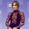 Jennifer lopez in purple gown