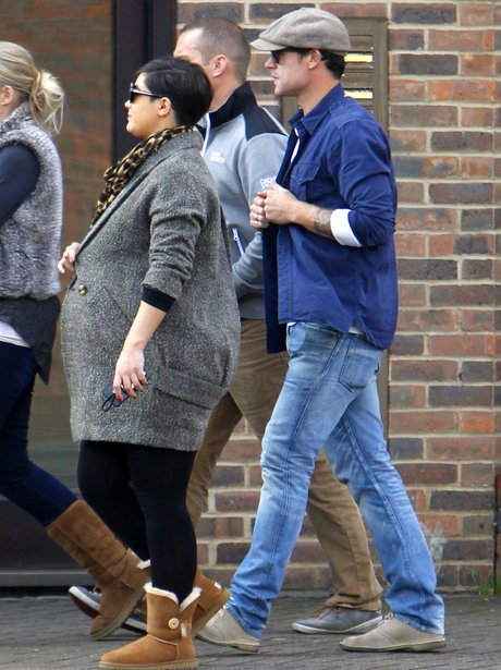 Frankie Sandford shows off her baby bump
