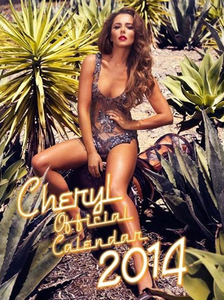 Cheryl Cole's 2014 calendar outtakes