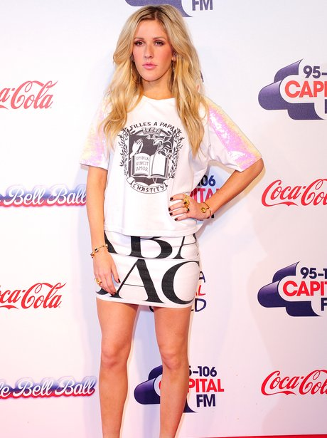 Ellie Goulding Red Carpet Jingle Bell Ball 2013