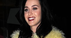 Katy Perry wearin a fur coat in London