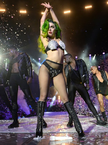 Lady Gaga live at the Jingle Bell Ball 2013