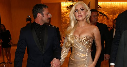 Lady Gaga and Taylor Kinney attend aftershow party