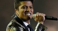 Bruno Mars performs at the Super Bowl 2014