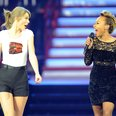 Taylor Swift and Emeli Sande perform together
