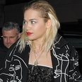 Rita Ora leaving the Prince concert