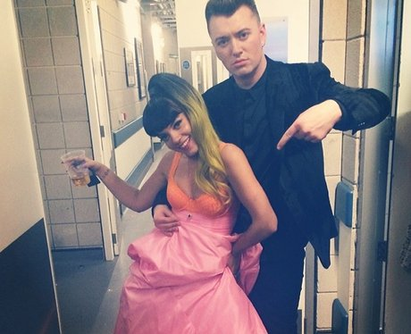 Lily Allen and Sam Smith together on Twitter