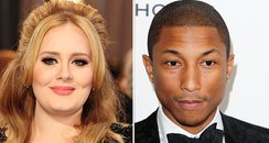 Adele and Pharrell