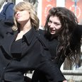 Taylor and Lorde hanging out together