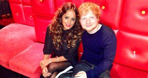 Max with Ed Sheeran