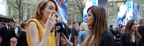 Max With Emma Stone At The Amazing Spiderman 2 Pre