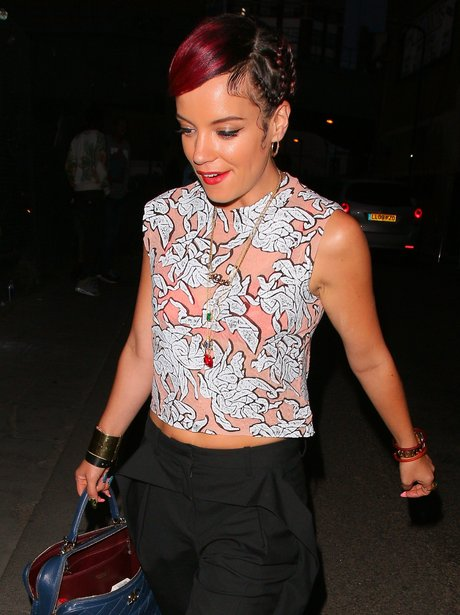 Lily Allen with plaits in her hair