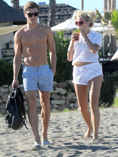 Pixie Lott and Oliver Cheshire Holiday