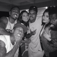 Chris Brown, Kendall and Kylie Jenner
