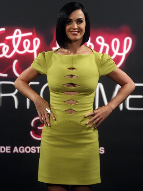 Katy Perry in cut out dress