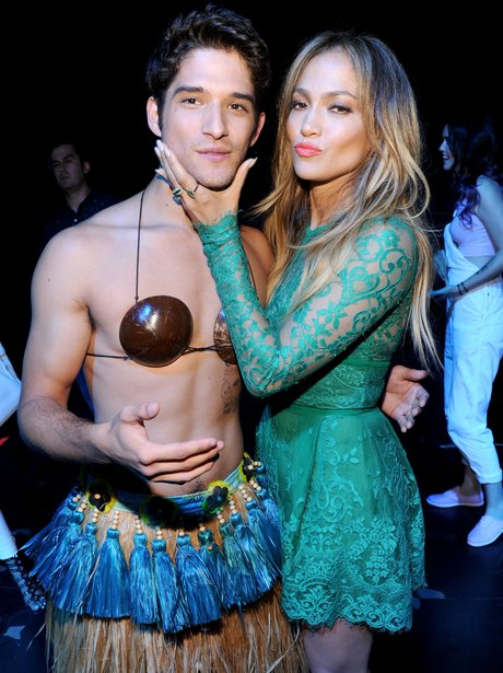 Jennifer Lopez and Tyler Posey Teen Choice Awards