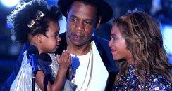 Beyonce, Jay-Z and Blu Ivy Carter MTV VMAs 2014