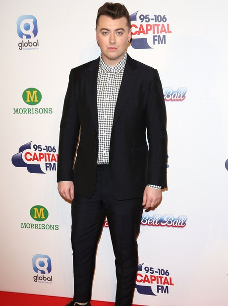 Sam Smith Red Carpet at the Jingle Bell Ball 2014