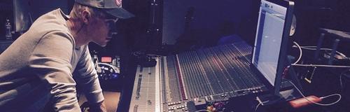 Justin Bieber in the studio
