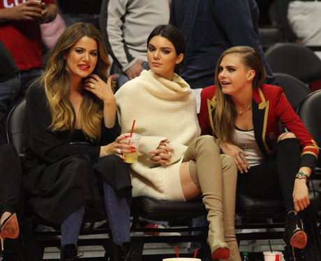 cara Delevigne and Kardashian Basketball