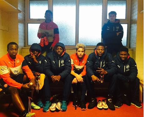 Brooklyn Beckham Arsenal training