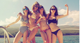 Taylor Swift and Haim wearing Bikinis