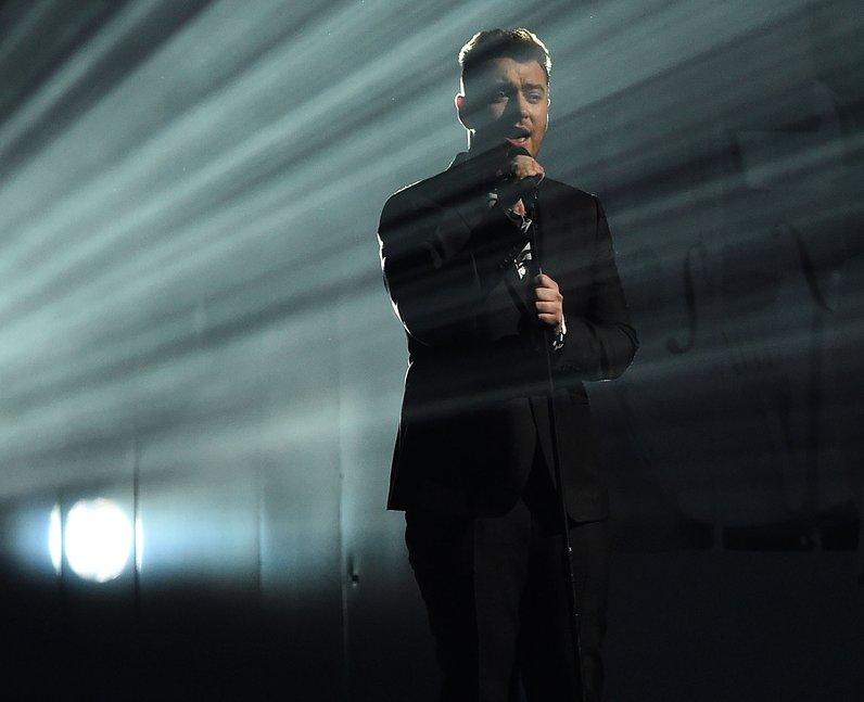 Sam Smith BRIT Awards Red Carpet 2015 Performance