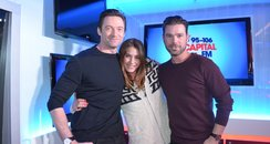 Hugh Jackman with Dave Berry and Lisa Snowdon