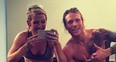 Ellie Goulding and Dougie Poynter in the gym
