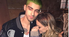 Zayn Malik with green hair