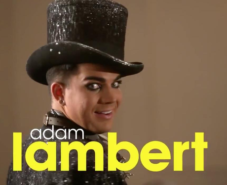 Adam Lambert Glee Still