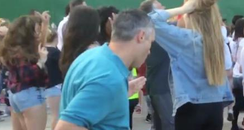 Man Dad Dancing At The Vamps Concert
