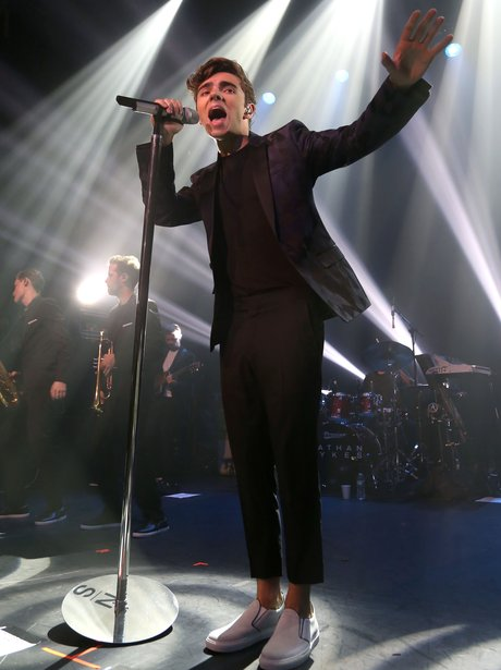 Nathan Sykes onstage in New York
