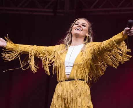 Perrie Edwards wearing a tassle outfit