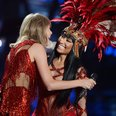Taylor Swift & Nicki Minaj live on stage at the MT