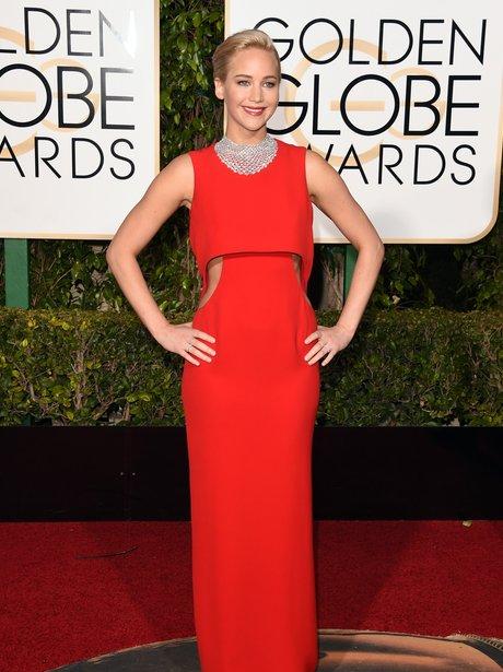 Jennifer Lawrence at the Golden Globe Awards 2015