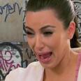 Kim Kardashian Crying At Grafitti