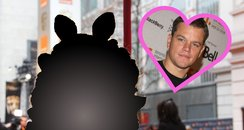 Miss Piggy and Matt Damon
