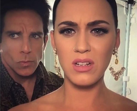 Ben Stiller and Katy Perry pose in post-Grammy sel