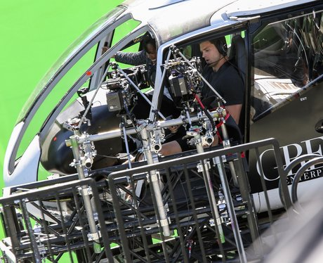 Jamie Dornan shoots scenes for 50 Shades Darker in