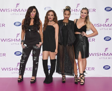 Little Mix pose for photos at the launch of new pe