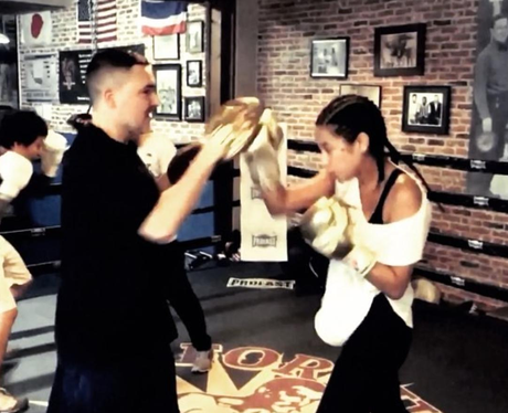Celebs Boxing Shay Mitchell