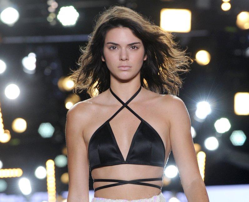 NYFW SS17 Kendall Jenner walks in Alexander Wang