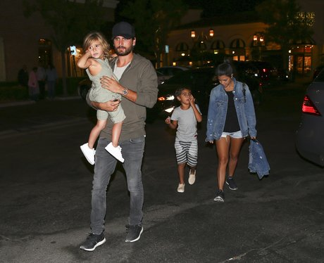 Kourtney Kardashian and Scott Disick take the kids