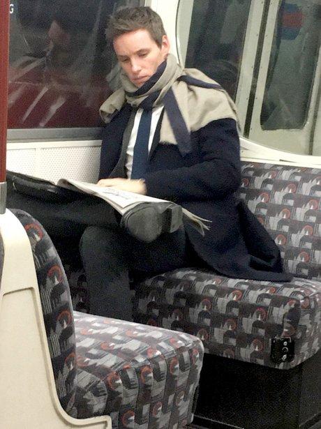 Eddie Redmayne on the tube