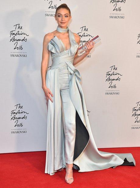 Gigi Hadid at the Fashion Awards 2016