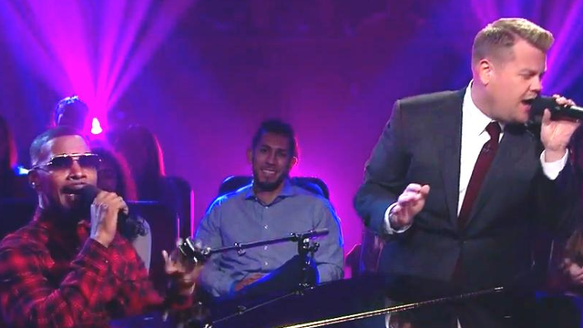 WATCH James Corden And Jamie Foxx Get Sexy Saucy And A Little NSFW As They Sing